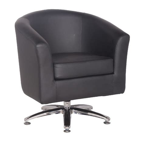 black swivel armchair leather tub chairs designer leather swivel tub chair