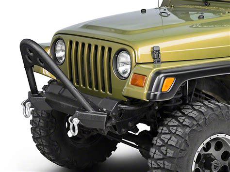 jeep stinger bumper smittybilt wrangler src front stinger bumper 76521 87 06