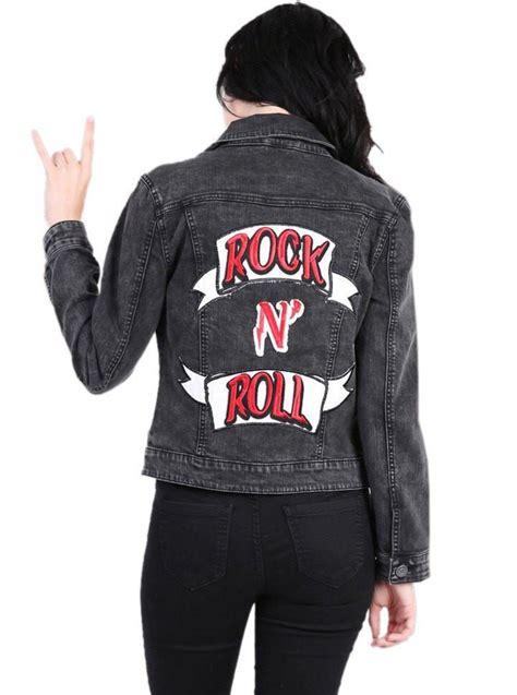 Hoodie Jaket Rock N Roll rock n roll jackets jean jacket inked shop