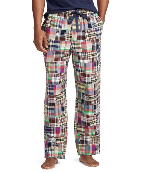 Womens Madras Patchwork Shorts - brothers madras patchwork lounge in