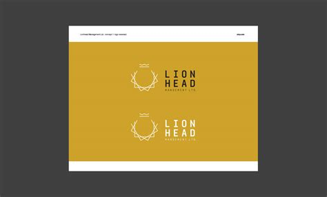 design presentation deck for lionhead branding logo