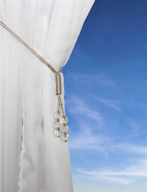 beaded curtain tie backs tsar beaded cord curtain tie back voile hold backs