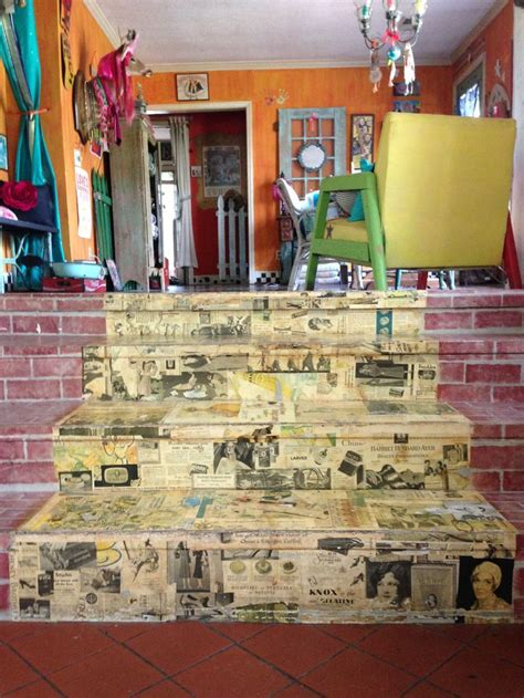 Decoupage Stairs - 17 best images about furniture decoupage and designs on