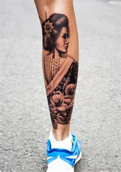 cute leg tattoos 60 geisha tattoos on leg