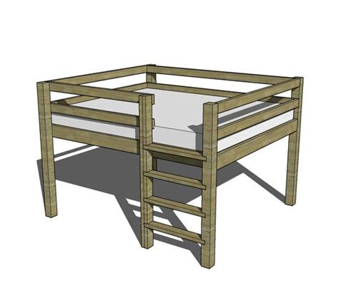 queen loft bed plans free diy furniture plans how to build a queen sized low