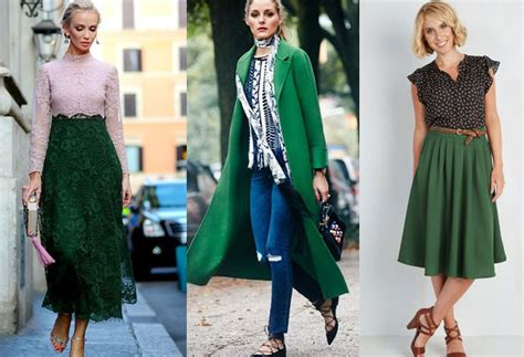 what goes with green colors that go with forest green clothes outfit ideas