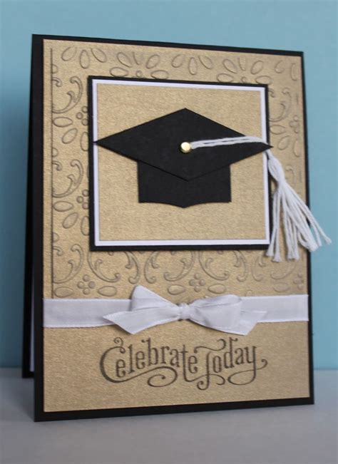 Graduation Handmade Cards - handmade graduation card clean and simple kraft with