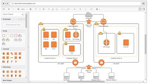 tool to draw architecture diagram aws architecture diagram tool
