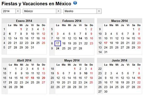 Calendario 2014 Mexico Calendario 2014 Con Festivos Para Imprimir Y Descargar Gratis
