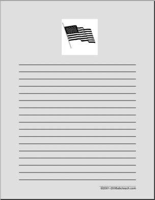 flag writing paper writing paper usa flag abcteach