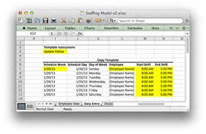 staffing model template staffing plan template excel calendar template 2016