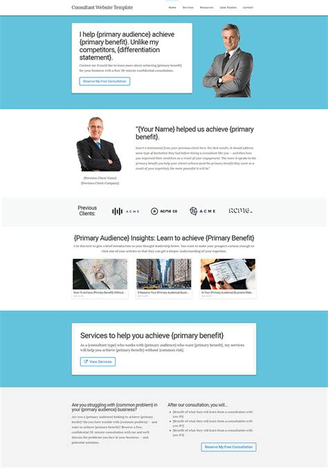Consultant Website Template Kit Tsavo Neal Products Website Templates