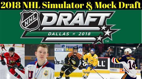 2018 nhl mock draft nhl draft lottery 2018 simulator