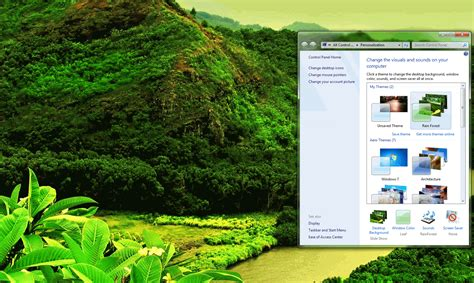 pc themes sound rainforest theme with sound download