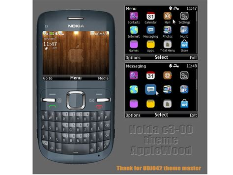 themes by nokia c3 mobile phones nokia c3 theme applewood