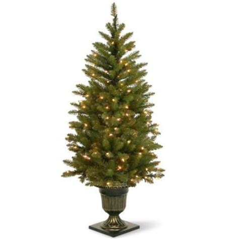 45 foot artificial christmas tree 4 5 ft pre lit dunhill fir potted artificial tree with clear lights duh 320 45 the