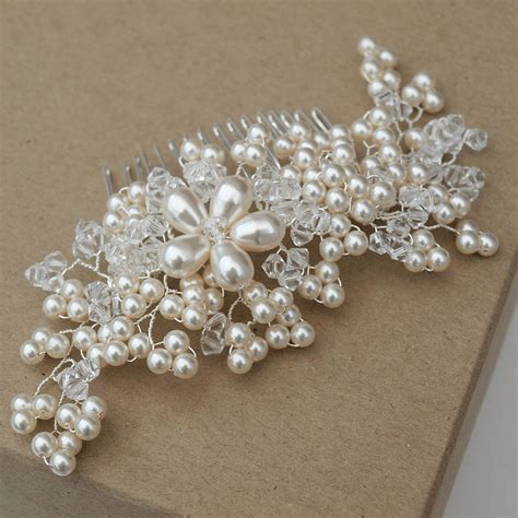 Vintage Bridal Pearl Hair Comb vintage pearl bridal hair comb by jewellery made by