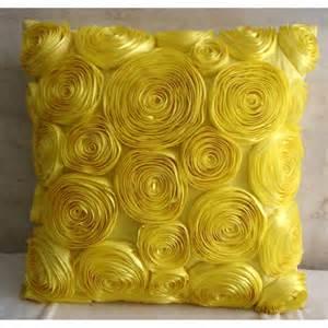 Unique Sofa Pillows Yellow Throw Pillows Cover 16x16 Silk Pillows