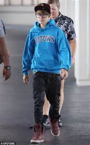 Wears Really Cool by Justin Bieber Heads For Tokyo In A Pair Of Uber Geeky