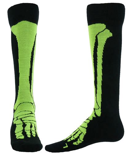 Socks X Bone x foot leg bones knee high socks in 2 color options