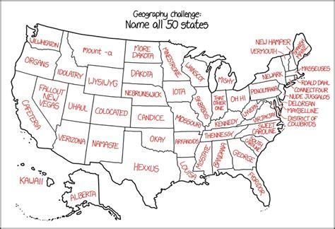 us map name the states 1767 us state names explain xkcd