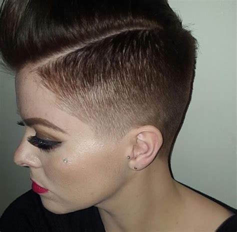 women medium tapered haircut fade haircut female hairs picture gallery