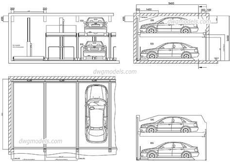 box auto dwg parking 4 dwg free cad blocks