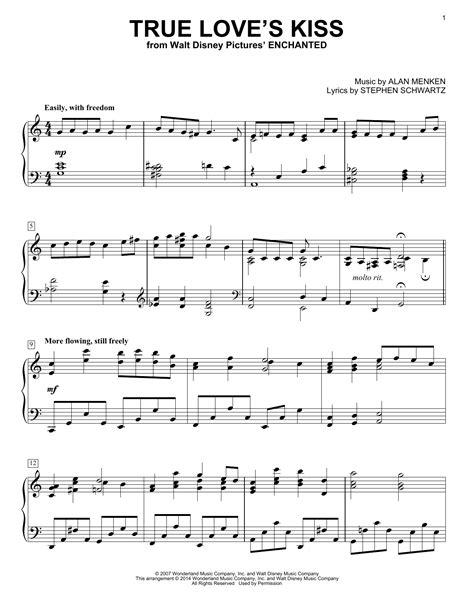 Alan Menken - True Love's Kiss (from Enchanted) sheet music