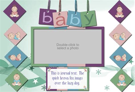 baby scrapbook templates free printable printable templates for scrapbooking images