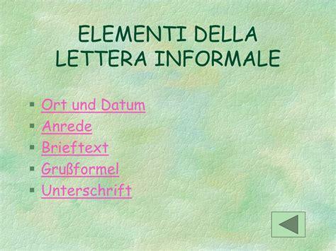 lettere informali ppt avvio al linguaggio formale powerpoint presentation