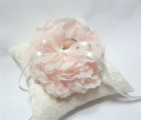 Pillows For Wedding Rings by Blush Ring Pillow Wedding Ring Pillow Ivory Lace Ring