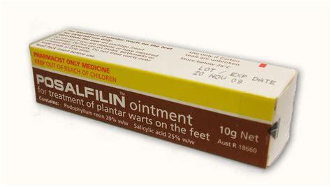 tattoo zinc cream podophyllum resin patient information description