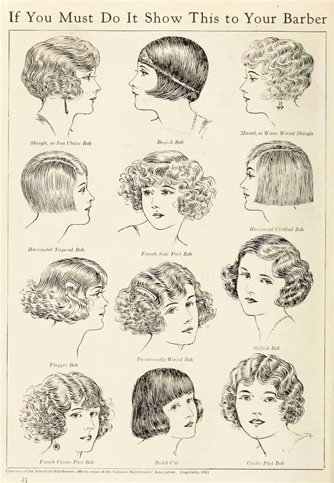 hair style names1920 1920s hairstyles the bobbed hair phenomenon of 1924