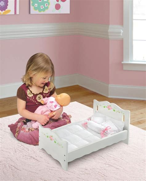 american bedding mattress wooden doll bed 18 quot w blanket 4 pillows mattress bedding american play ebay