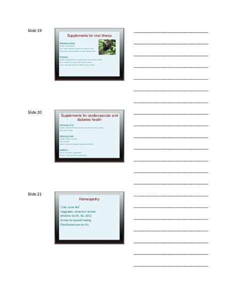 7 supplements for health topic 7 handout herbal supplements