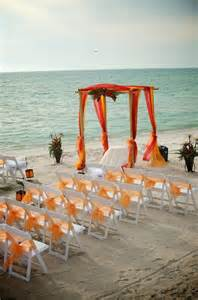 Beach Theme Decorations For Home 37 Cheerful Orange Beach Wedding Ideas Weddingomania