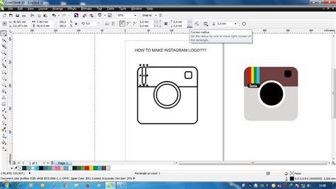 tutorial bikin instagram in hand tutorial membuat logo instagram menggunakan corel draw