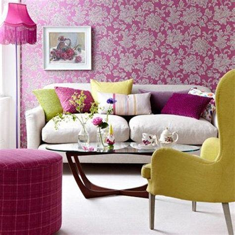 Floral Blue Living Room Blue Decorating Ideas by 20 Living Rooms With Beautiful Floral Wallpaper Rilane