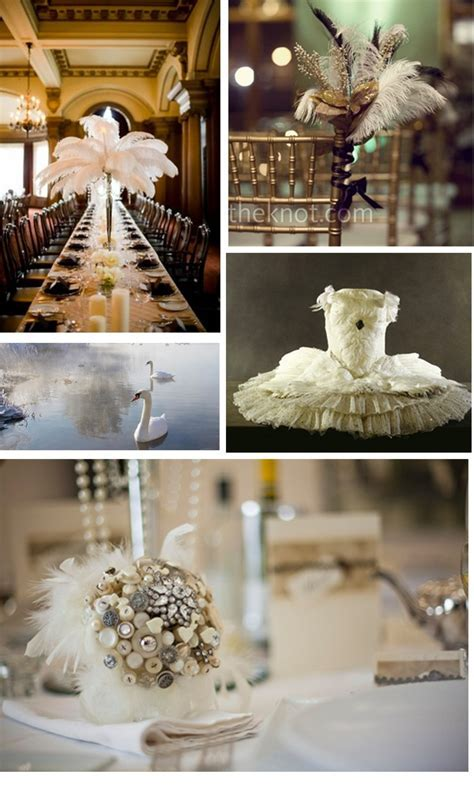 Swan Lake wedding theme   Feather Wedding Theme Ideas