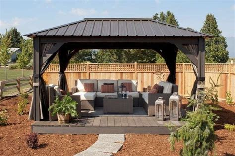 permanent garden gazebo 25 best collection of garden permanent gazebo