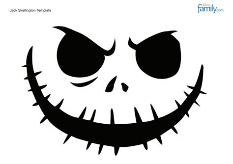 pumpkin carving templates skellington happy space