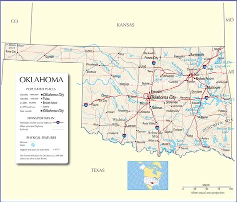 map oklahoma oklahoma state map images