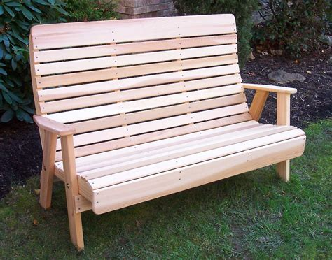 outdoor bench cedar royal highback garden bench
