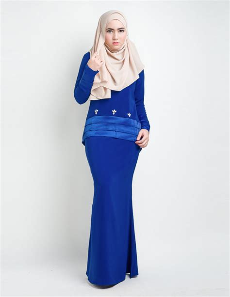 royal blue baju raya 2015 baju kurung royal blue 5 statement modern baju kurung