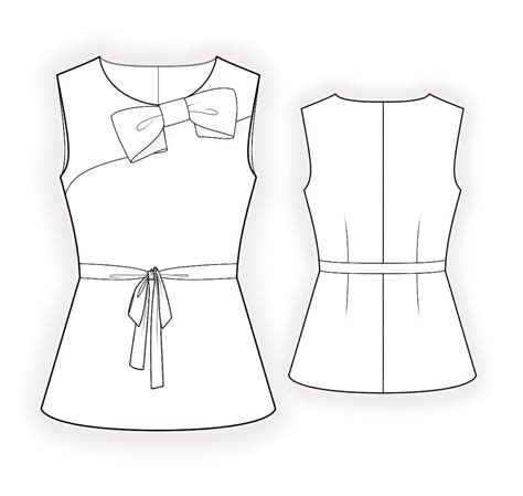 drawing pattern for sewing blouse with bow sewing pattern 4366 made to measure