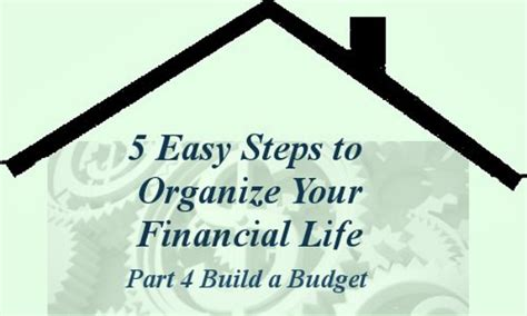 organize your life organize your financial life develop a spending plan