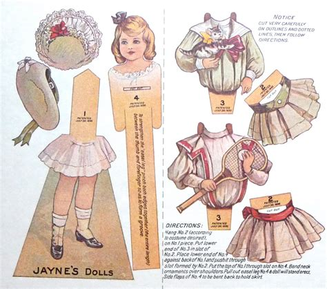 A Paper Doll - a vintage cottage home precious vintage paper dolls for