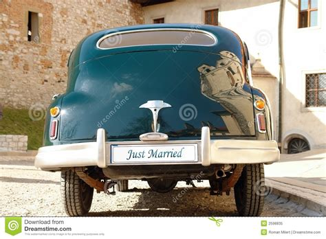 Wedding Car License by Just Married Royalty Free Stock Photo Image 2598835