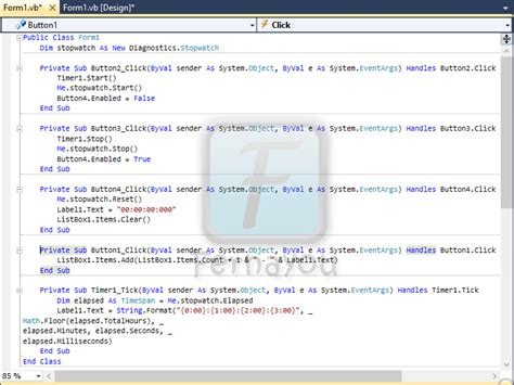 cara membuat power point dengan visual basic cara membuat stopwatch dengan visual basic 2010 download