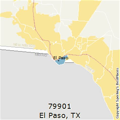 zip code map el paso tx best places to live in el paso zip 79901 texas